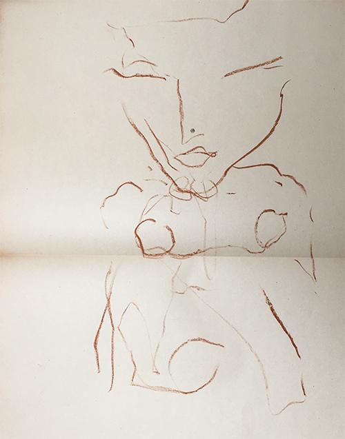 Skizze Selbstportrait