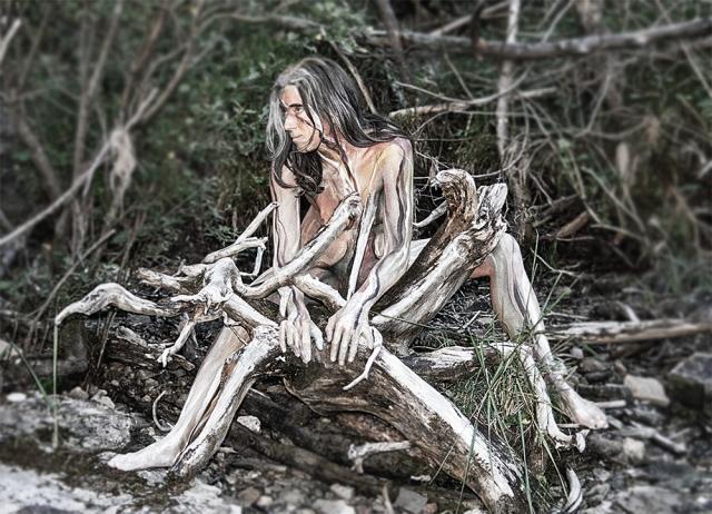 Körpermalerei, Foto: Anke Rammé Firlefanz